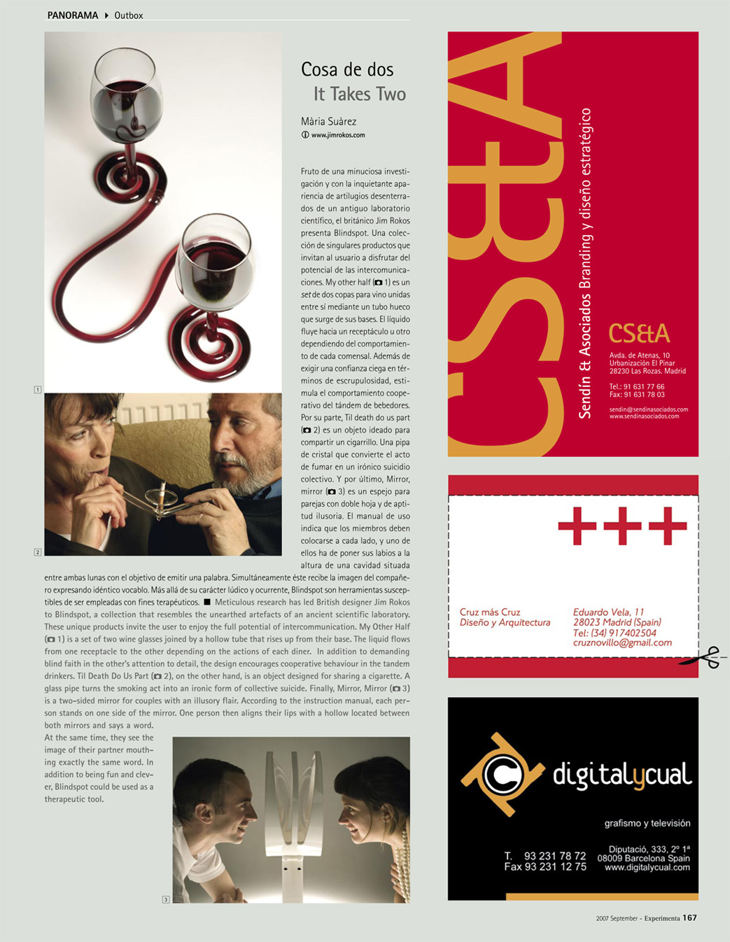 Experimenta Magazine Article